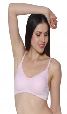 Prestitia pink hosiery bra with transparent strap Style By Prestitia