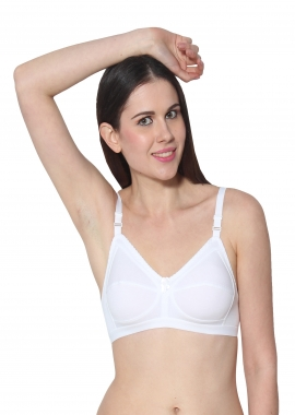 Prestitia white hosiery tshirt bra Style By Prestitia