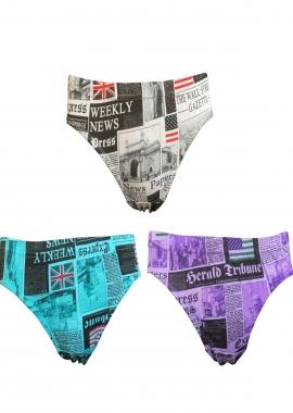 Prestitia paper print hipster panty set Panties By Prestitia