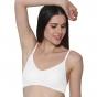 Prestitia full coverage white hosiery bra