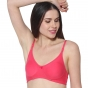 Prestitia carrot hosiery bra with transparent strap