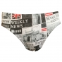 Prestitia paper print hipster panty set